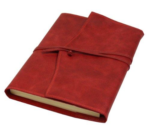 Papuro Milano Nachfülleinlage für Italienisches Leder rot Adressbuch-15x 21cm