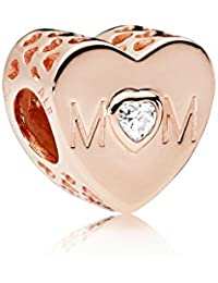 Pandora Moments Mother Heart Damen Bead Charm Rose 10,5 x 11 mm