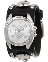 Nemesis Herren MSK906S Cross Bone Skull Armbanduhr
