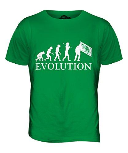 CandyMix Graffiti Evolution Des Menschen Herren T Shirt Grün