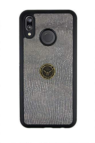 GAZZI Huawei P20 LITE Hülle Case Schale BackCover Lederhülle Handyhülle Schutzhülle Echt Leder, Rundumschutz, Flexible Schale, PLANET DAY