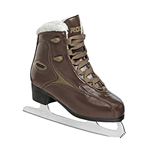 Roces RFG Glamour Womens Ice Skates - 38, Brown (Ringneck/Brown)