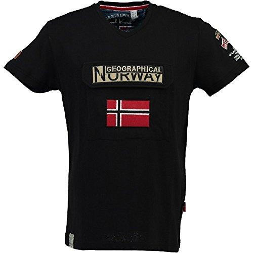 Geographical Norway Herren T-Shirt Schwarz