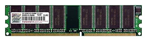 Transcend TS128MLD64V3J 1GB PC2700 Arbeitsspeicher (333 MHz, (184 Pin Ddr Sdram Sistema)