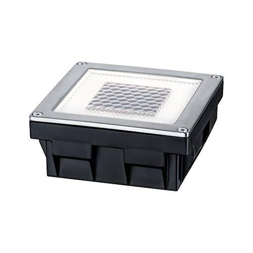 Paulmann 937.74 empotrable para Suelo, Solar, 0.24W LED, Acero Inoxidable, IP67 Integriert,...
