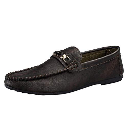 CUTUDE Herren Lederschuhe Business Spitzlack Leder Bright Leather Mode Schnürhalbschuhe Schuhe Schwarz 38-44 (Braun, 41 EU)