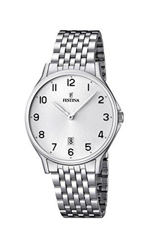 Festina Herren Analog Quarz Uhr mit Edelstahl Armband F16744/1