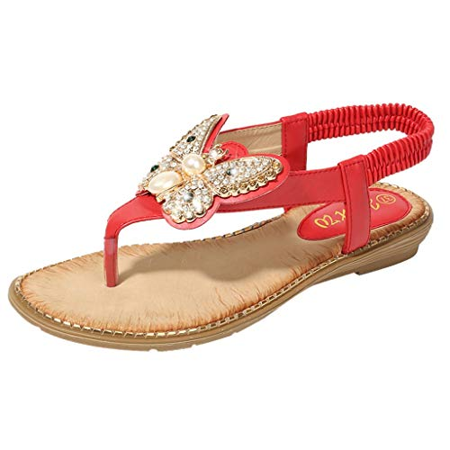 eilabsatz shoes roman bling sommer sandalen knöchel gurt schuhe hohe dicke flip flops elegant absatz open toe shoe walking sneakers anti rutsch hausschuhe party strand sport ()