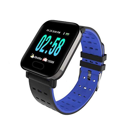 YYH Pantalla a color pulsera inteligente ritmo cardíaco presión arterial control del sueño 1.3 pulgadas IP67 podómetro deportivo a prueba de agua pulsera de calorías, tres colores opcionales 258 x 34.