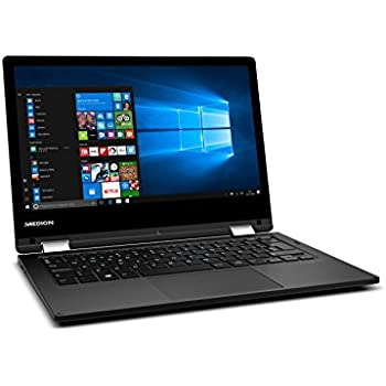 "Medion MD 60693 - Ordenador portátil de 11.6"" HD (Intel Atom x5-Z8350, RAM de 4 GB, EMMC de 128 GB, Intel HD Graphics, Windows 10) negro - teclado QWERTY Español"