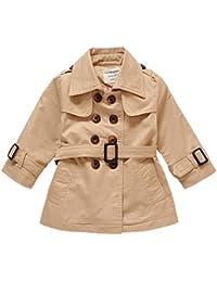 db4dde90b ARAUS Abrigo Chaqueta Niños Niñas Cinturón Botón de Doble Fila Ropa Linda  Primavera