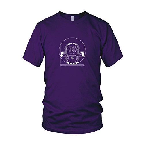 Vitruvian Banana - Herren T-Shirt, Größe: XXL, Farbe: lila