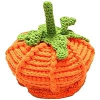FENICAL Gorro de tejer hecho a mano de calabaza Sombrero de los niños Sombrero de otoño invierno para regalos de acción de gracias de Halloween (naranja)