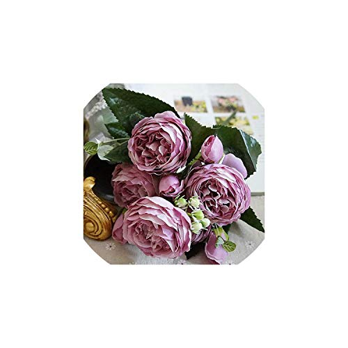 Eternity Bliss Künstliche Blumen Rosen-Kunstseide Blumen Kleine Blumensträuße Zuhause-Party Hochzeit Dekoration Gefälschte Blume, 6 (Ein Mittelstücke Für Baby-dusche)