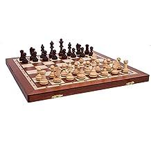 Woodeyland PROFESSIONNEL Jeu d'échecs en bois GRAND TOURNOI 4 modèle Set 40x40 cm STAUNTON QUALITÉ SUPÉRIEURE!