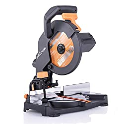Evolution Power Tools R210CMS Multi-Purpose Compound Mitre Saw Cuts Wood, Metal and Plastic, 1200 W, 230 V - Domestic