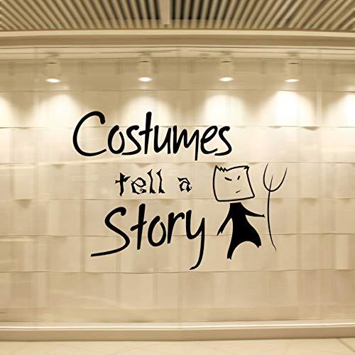 Halloween Kostüme Wandaufkleber Wohnzimmer Schlafzimmer Dekorative Aufkleber Kreative Persönlichkeit Abnehmbare ()