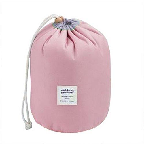ZALAGO Kosmetikbeutel Kulturtasche Damen Kosmetiktaeschen Wasserdichte Duschtasche,Rosa