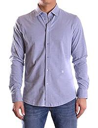 Dirk Bikkembergs Hombre C235KFDMB071Y066 Azul Claro Algodon Camisa