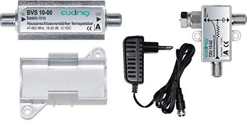Axing BVS 10-01 Verstärkerset (Verstärker BVS 10-00, Netzteil TZU 11-01, Fernspeiseweiche TZU 15-01, Montagesockel)