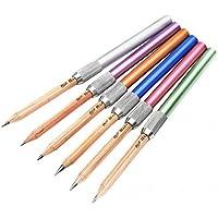 Omeny 5 piezas Soporte ajustable del alargador del alargador del lápiz del metal (Color aleatorio)