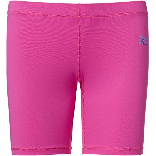 Sportkind Mädchen & Damen Fitness / Volleyball / Training Shorts, neon pink, Gr. 128