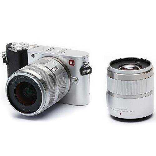 YI M1 Appareil Photo Numérique 4K sans miroir avec Objectif Interchangeable 12-40mm F3.5-5.6 / 42.5mm F1.8, 20 Megapixel - Argenté