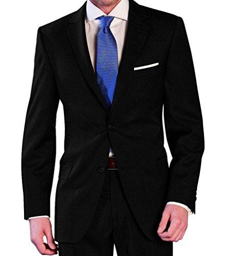 Lanificio Tessuti Italia - Regular Fit - Herren Anzug aus reiner Schurwolle in verschiedenen Farben (1941413) (Gr. 44-64, 24-32, 90-122), Farbe:Schwarz(99), Größe:27