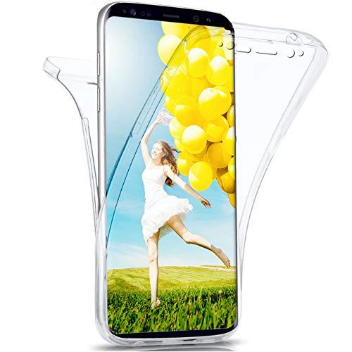 moex Samsung Galaxy S8 Plus   Hülle Silikon Transparent 360 Grad Double Side Cover Dünne Schutzhülle Slim Handyhülle für Samsung Galaxy S8+ Plus Case Transparent Silikonhülle TPU