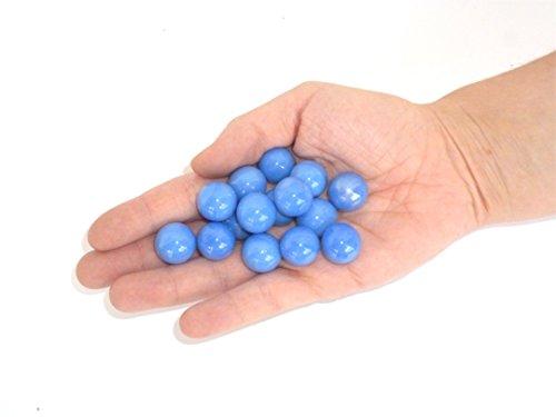 Canicas Azul 15unidades–Canica bola, Juego Para canicas, Knicker, KLIC Núcleo, decoración, Idea