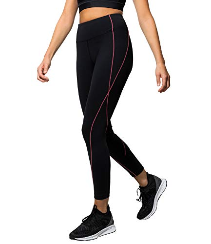 Kasheer ActiveLeggings | Sport-Leggings für Damen mit 4-Wege-Stretch | Fitness-Hose für Yoga, Gym, Laufen und Pilates | Schwarz (36/38)