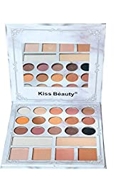 Kiss Beauty 21 Color Eyeshadow and Highlighter Palette (87067-01)