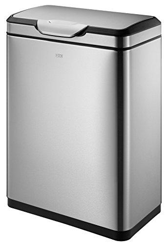 EKO Entwicklung Recycle Touch Bin, Silber, 40Liter 40-liter Touch Bin