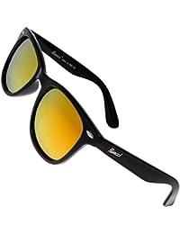 Rivacci Gafas de Sol Polarizadas Hombre Mujer Wayfarer – Marca Retro / Vintage – Lentes Deportivas Espejadas Amarillas –…
