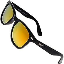 Rivacci Gafas de Sol Polarizadas Hombre Mujer estilo Wayfarer / Aviador / Clubmaster - Marca Retro / Vintage – Lentes Deportivas - Funda y Toallita Limpiadora GRATIS