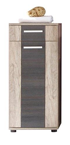 Furnline 1408-801-58 Star Monument Oak Bathroom Side Cabinet, Brown