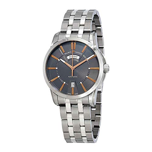 Maurice Lacroix Pontos Day Date Automatic Grey Dial Mens Watch PT6158-SS002-03E