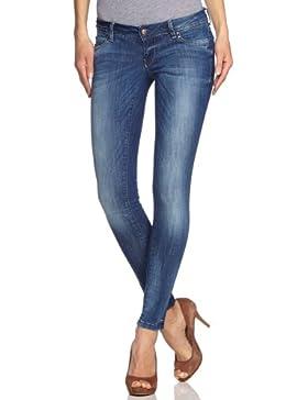 ONLY Damen Skinny Jeanshose Normaler Bund 15066578/Superlow Coral REA1826 Noos, Gr. 30/30, blau (DENIM)