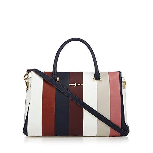 j-by-jasper-conran-womens-dark-red-colour-block-grab-bag