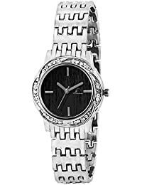 Jack Klein Silver Black Dial Metal Watch for Women