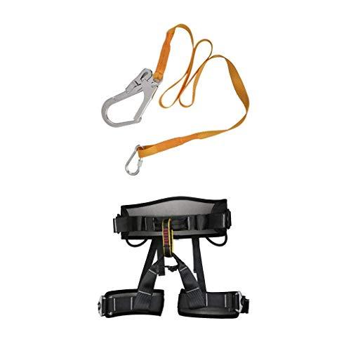 XZANTE Cinturino di Sicurezza da Arrampicata con Fibbia moschettone + Alpinismo Arrampicata su Roccia Imbracatura Sedile Busto Cintura di Sicurezza