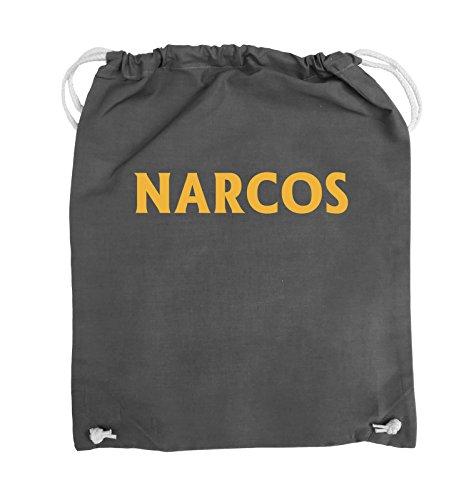 Buste Comiche - Narcos - Logo - Borsa Girevole - 37x46cm - Colore: Nero / Argento Grigio Scuro / Giallo
