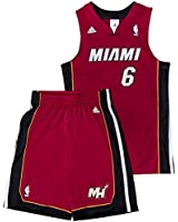 Miami Heat NBA Trikot Set Kindergröße Adidas LeBron James 6
