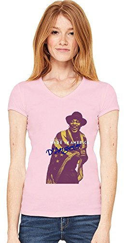 D'Angelo Made In America Womens V-neck T-shirt X-Large