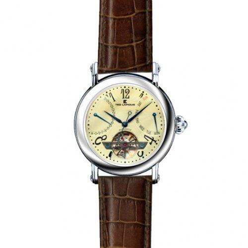 Ted Lapidus 5109701 - Reloj analógico de caballero automático con correa de piel - sumergible a 200 metros