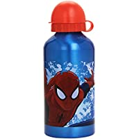 Kids Euroswan Cantimplora de 500 ML, Estampado Spiderman, Aluminio, 15x10x5 cm