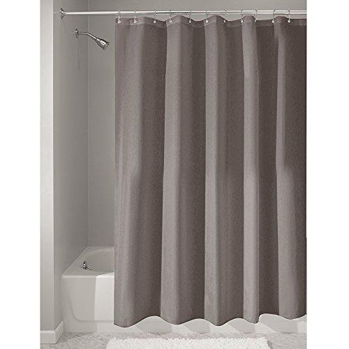InterDesign Duschvorhang aus Stoff | Wasserdichter Duschvorhang mit Verstärktem Saum | waschbarer...