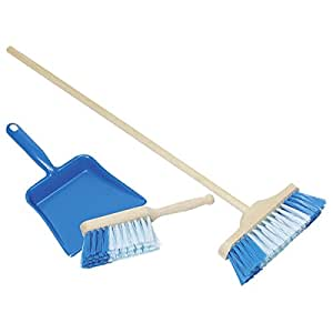 Child Size Dustpan And Brush Childrens Sweeping Brush Set