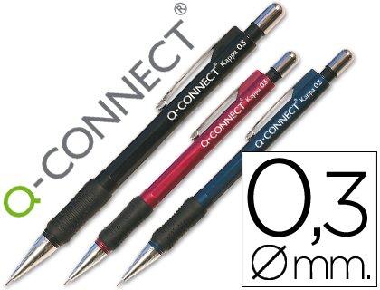 Q-CONNECT Druckbleistift Kappa–550Kautschuk 0.3mm (12Stück)