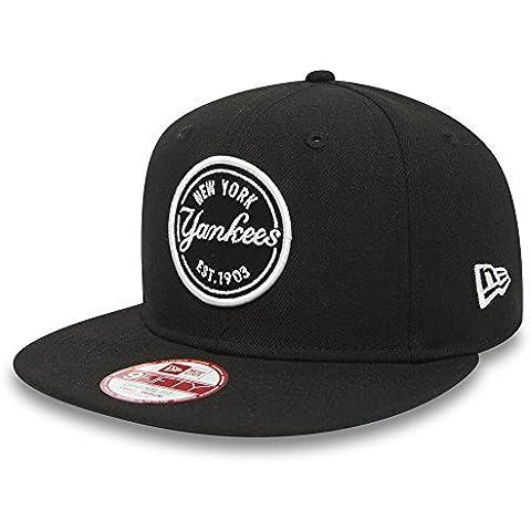 New Era Emblem Mlb Patch Neyyan Blk - Gorra Línea New York Yankees para hombre, color negro, talla